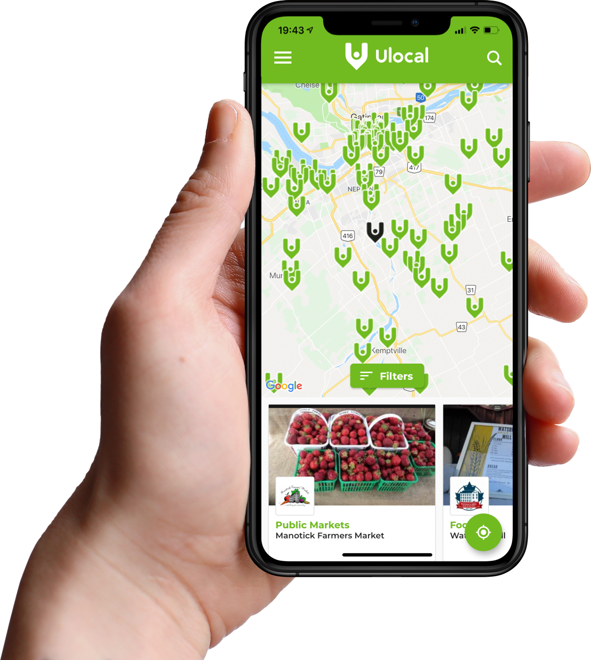 iOS and Android App | Ulocal local products