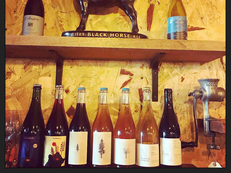 restaurant bouteille vin nature comptoir restaurant st-jean-sur-richelieu produit local achat local Ulocal