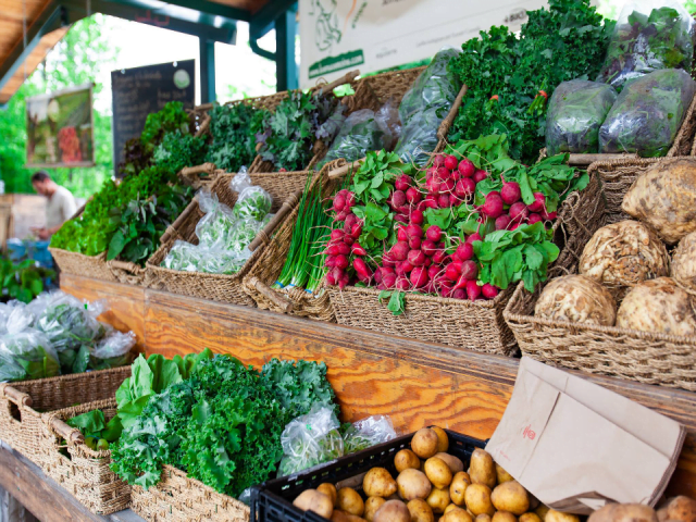 Marché de Lac-Brome Knowlton fruits et légumes
