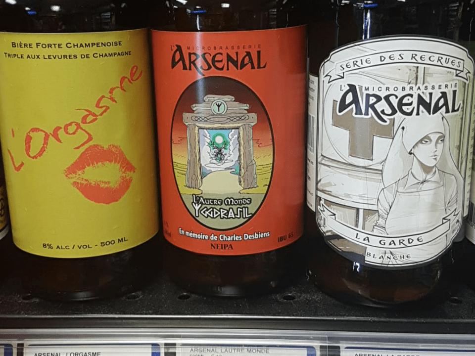 Microbrasserie L'Arsenal Charrette Bières artisanales