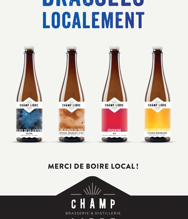 Microbrasserie Brasserie distillerie Champ libre Mercier Bières artisanales