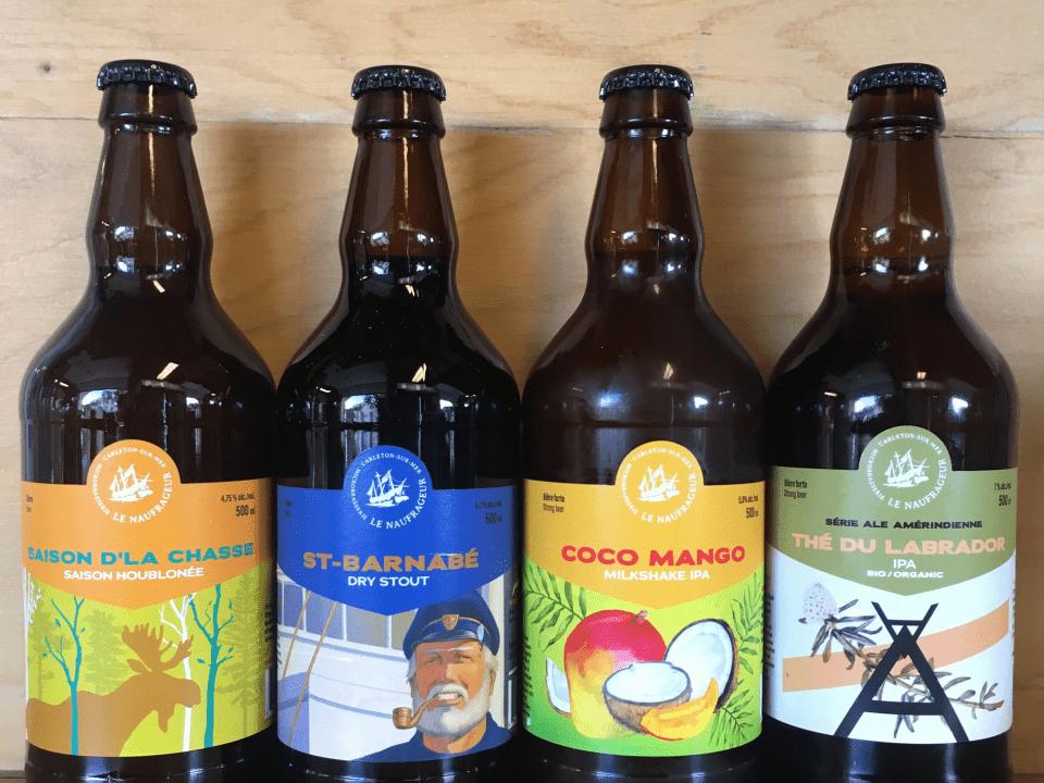 Microbrasserie Le Naufrageur Carleton-sur-Mer Bières artisanales