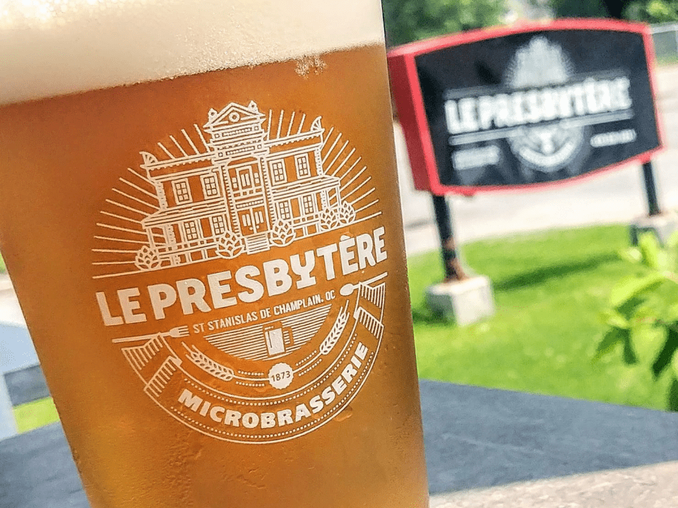Alcohol Restaurant Microbrewery Le Presbytère Saint-Stanislas-de-Champlain Craft beer Quebec Ulocal local product local purchase local products