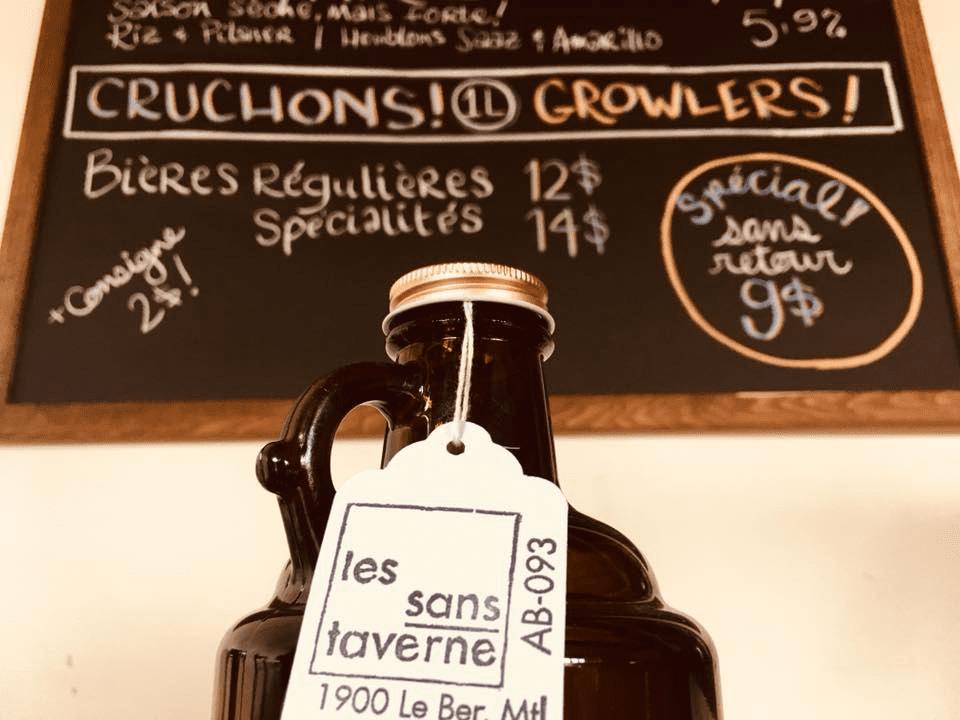 Microbrewery les sans-taverne Montréal Craft beer