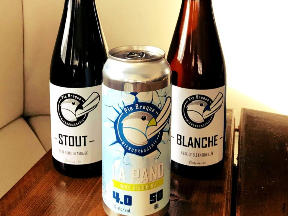 Craft beer Stout Blanche La Pano Logo microbrewery Pie Braque microbrewery ulocal local product local purchase
