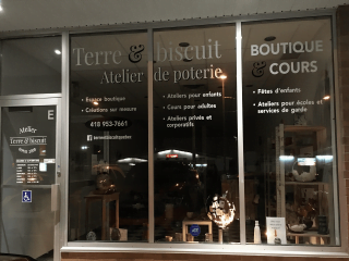 Boutique d'artisanat Atelier Terre & Biscuit Québec Ulocal produit local achat local