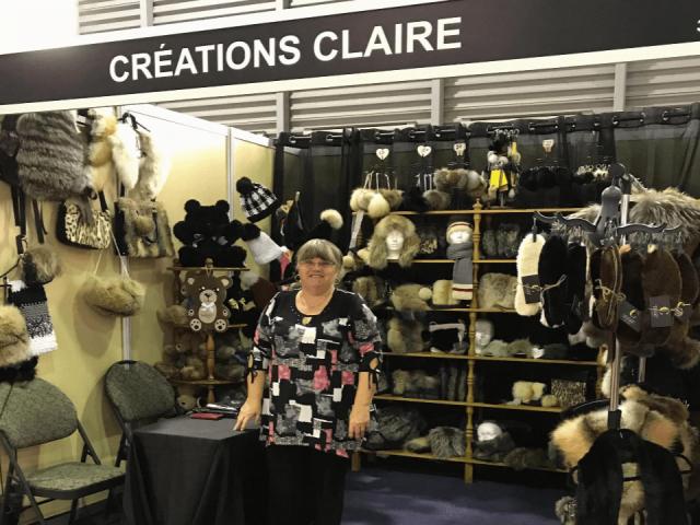 Bijoux et accessoires vêtements fourrures recyclés Créations Claire Shawinigan Ulocal produit local achat local