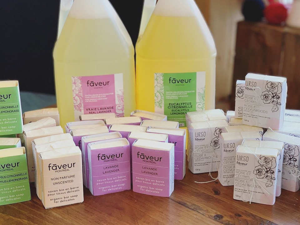 organic products cosmetics handmade soaps household products Favor Montreal Ulocal Cosmetics local product local purchase