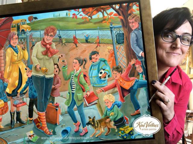 Peinture Décoration intérieure Kim Veilleux artiste peintre Saint-Nicolas Ulocal produit local achat local