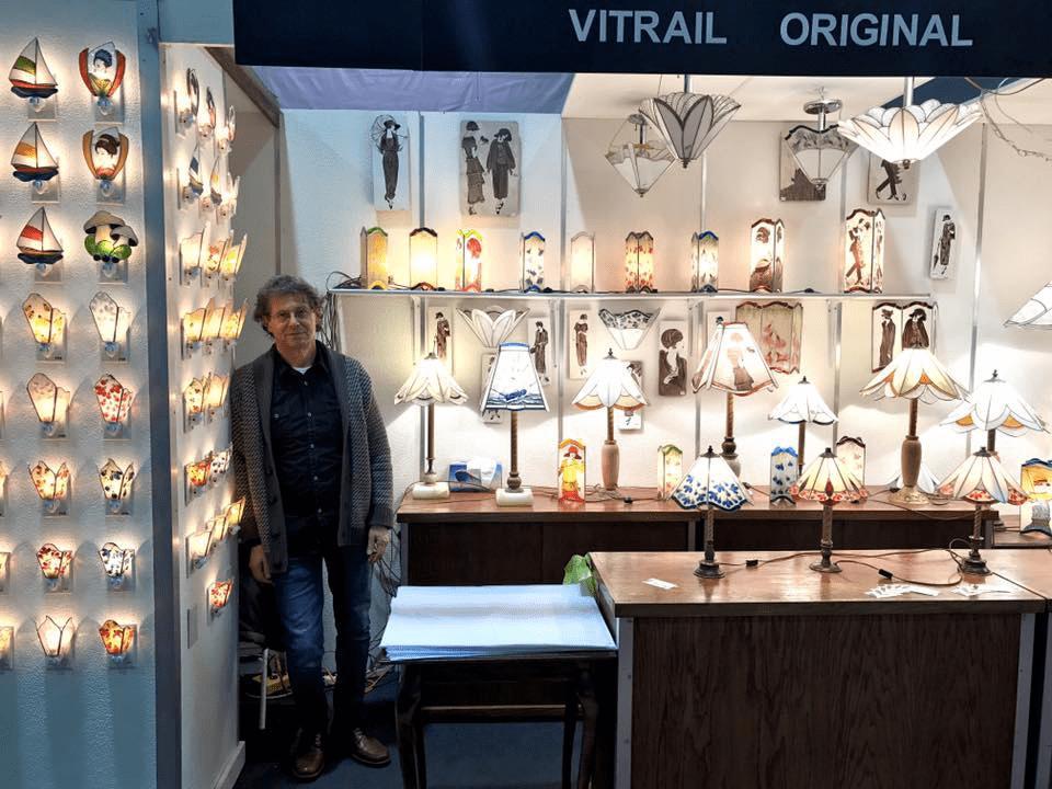 Décoration intérieur lampe luminaire artisans Vitrail Original Saint-Paul Ulocal produit local achat local