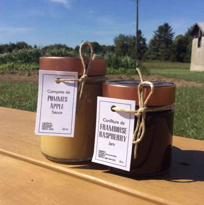 Produce Market apple sauce jam Ferme Artisan Fournier Ulocal local product local purchase