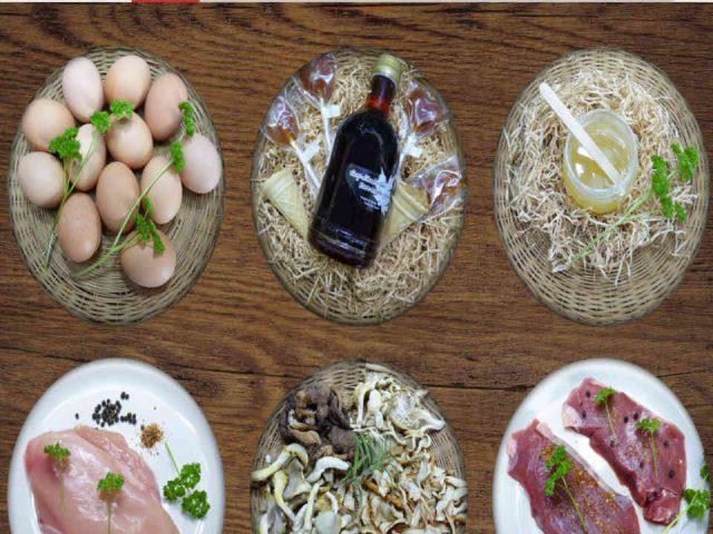 Vente de viande assiettes avec viandes oeufs sirop d'érable Ferme Céline Tremblay Blue Sea Ulocal produit local achat local