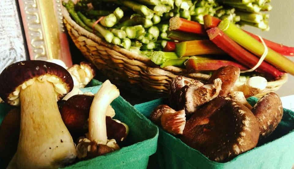 Marché de fruits et légumes champignons sauvages Ferme et Forêt Wakefield Ulocal produit local achat local