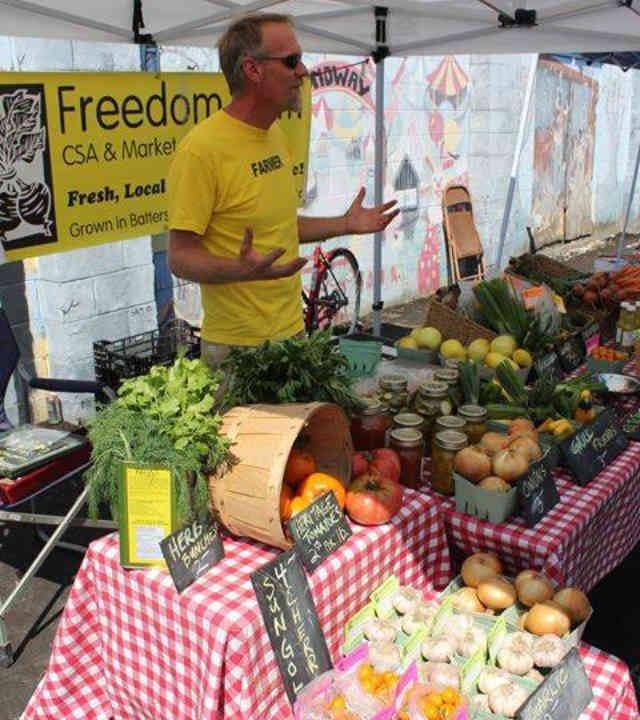 marché fruits légumes kiosque légumes Freedom Farm Battersea Ulocal produit local achat local