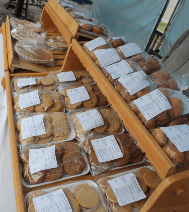 farmers market cookies display Chesterville Farmers Market Chesterville Ulocal local product local purchase