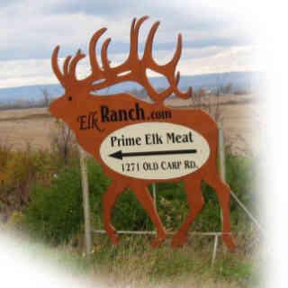 Vente de viande pancarte logo The Elk Ranch Kanata Ulocal produit local achat local