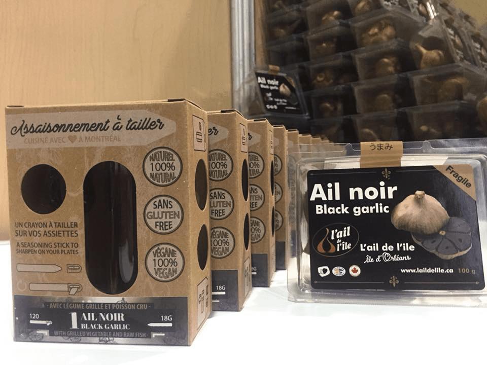 Alimentation ail noir L'Ail de l'île Sainte-Famille Ulocal produit local achat local