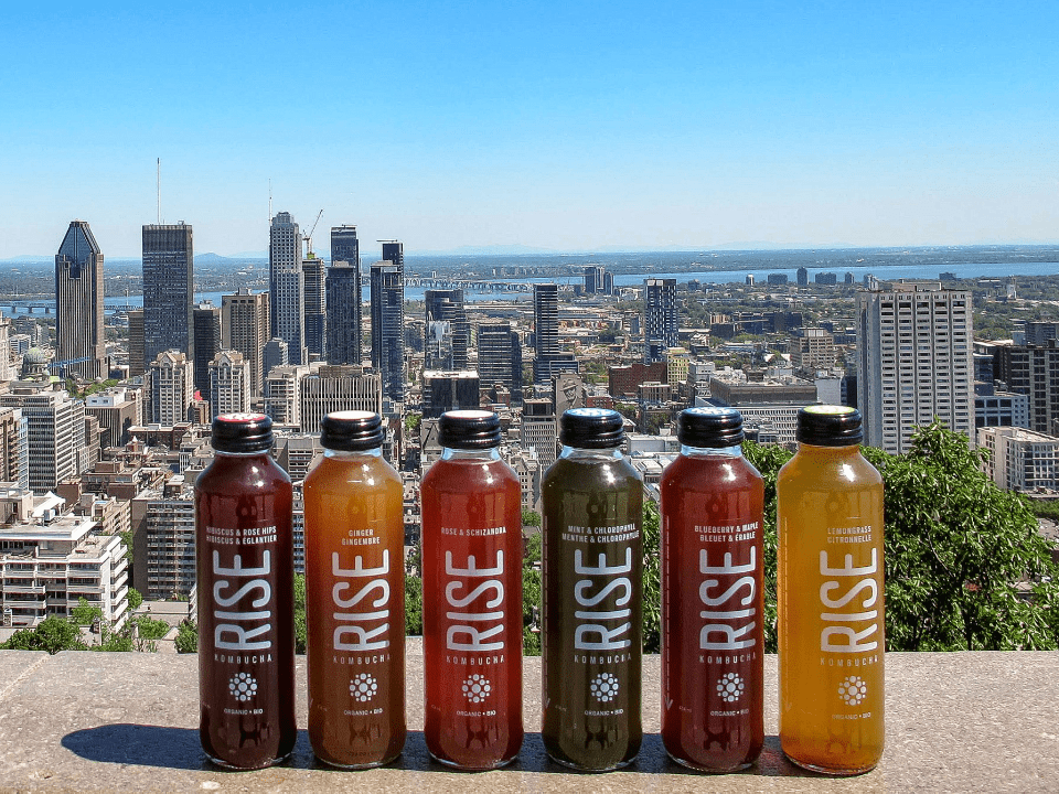 Food drink organic natural tea base Rise Kombucha Montreal Ulocal local product local purchase