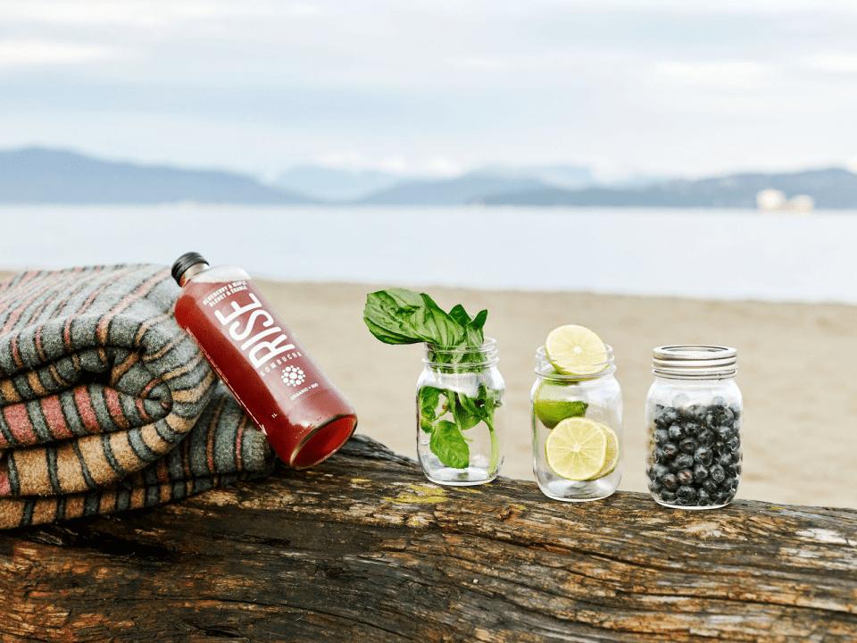 Food drink organic natural tea base Rise Kombucha Montreal Ulocal local product local purchase
