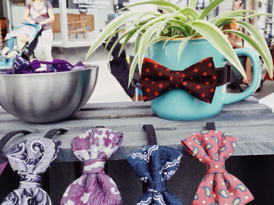 Jewelry and accessories bow tie Sarah in the moon Montreal Ulocal local product local purchase