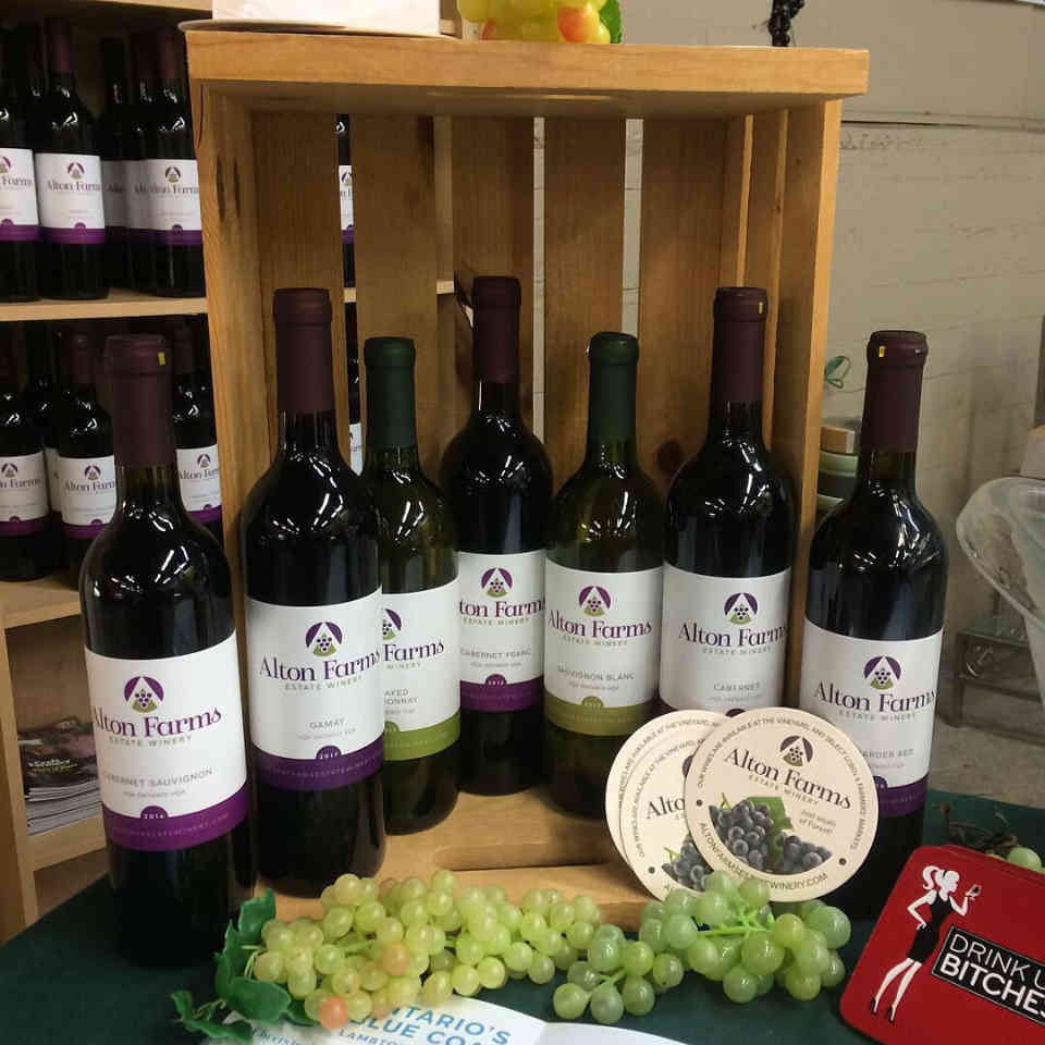 Vineyard Wine Bottles Alton Farms Estate Winery Plympton-Wyoming Ulocal Local Product Local Purchase