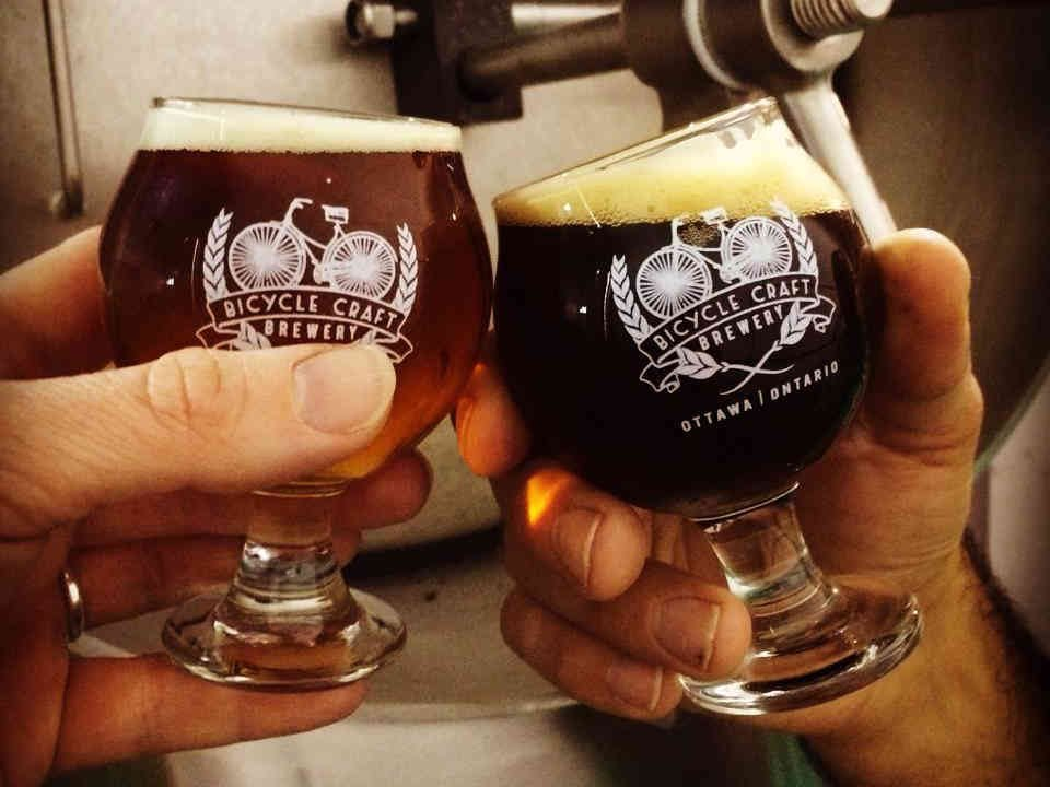Microbrewery Beer glasses Bicycle Craft Brewery Ottawa Ulocal Local Product Local Purchase