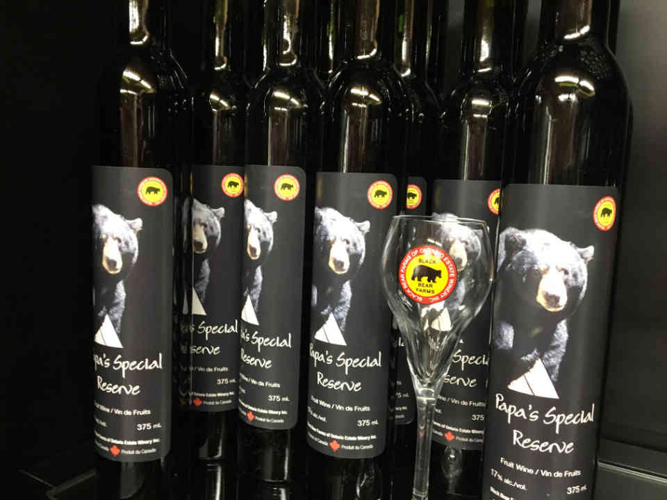 Vineyard Wine Bottles Black Bear Farms of Ontario Estate Winery Kingsville Ulocal Local Product Local Purchase