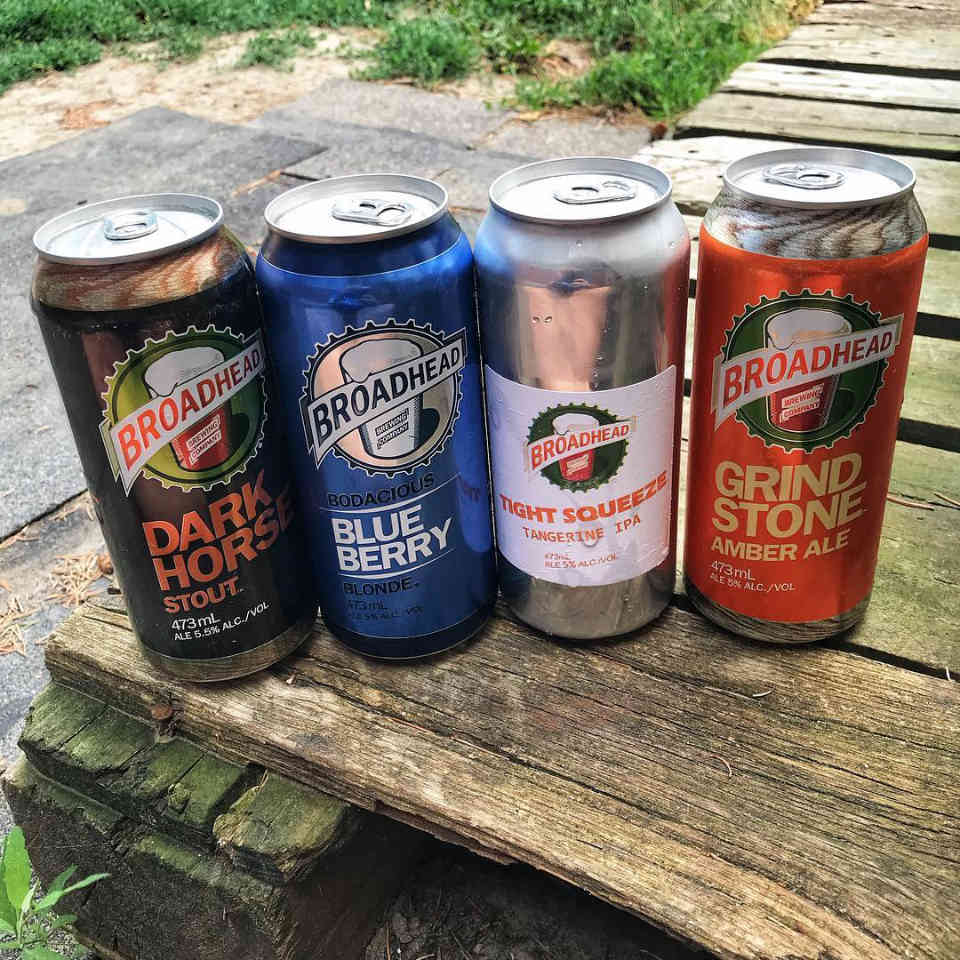 Microbrewery Beer Cans Broadhead Brewing Company Ottawa Ulocal Local Product Local Purchase