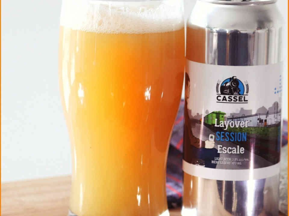 Microbrewery beer can and glass Cassel Brewery Casselman Ulocal local product local purchase