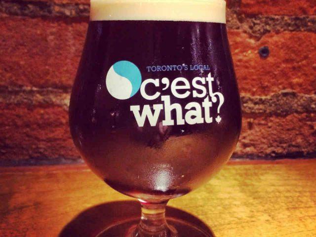Restaurant verre bière C'est What Toronto Ulocal produit local achat local