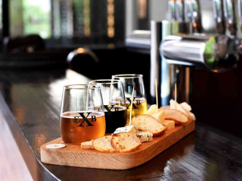 Microbrewery beer glasses and cheese The Exchange Brewery Niagara-on-the-Lake Ulocal Local Product Local Purchase