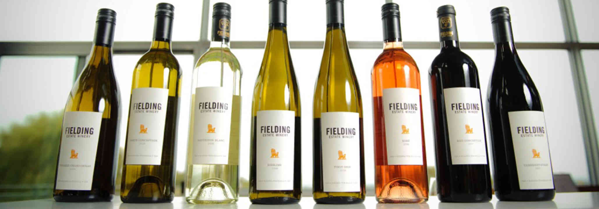 Vineyard bottles of wine Fielding Estate Winery Lincoln Ulocal Local Product Local Purchase