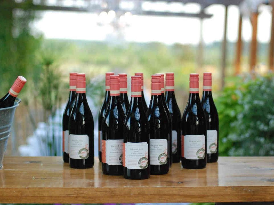 Vineyard wine bottles The Good Earth Food and Wine Company Lincoln Ulocal Local Product Local Purchase