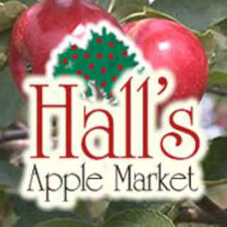 Produce picking logo Halls Apple Market Brockville Ulocal local product local purchase