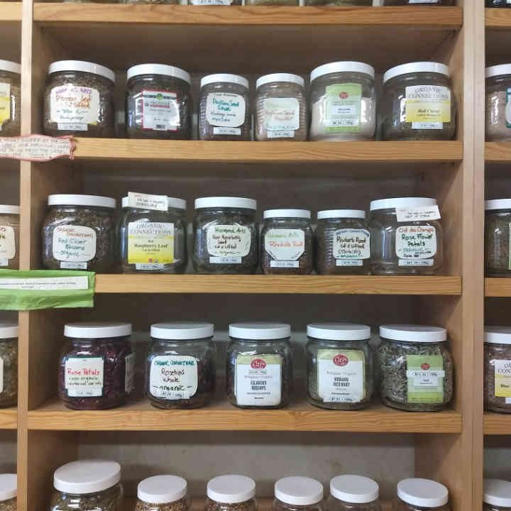 Boutique d'aliments étalage Herb & Spice Shop Ottawa Ulocal produit local achat local