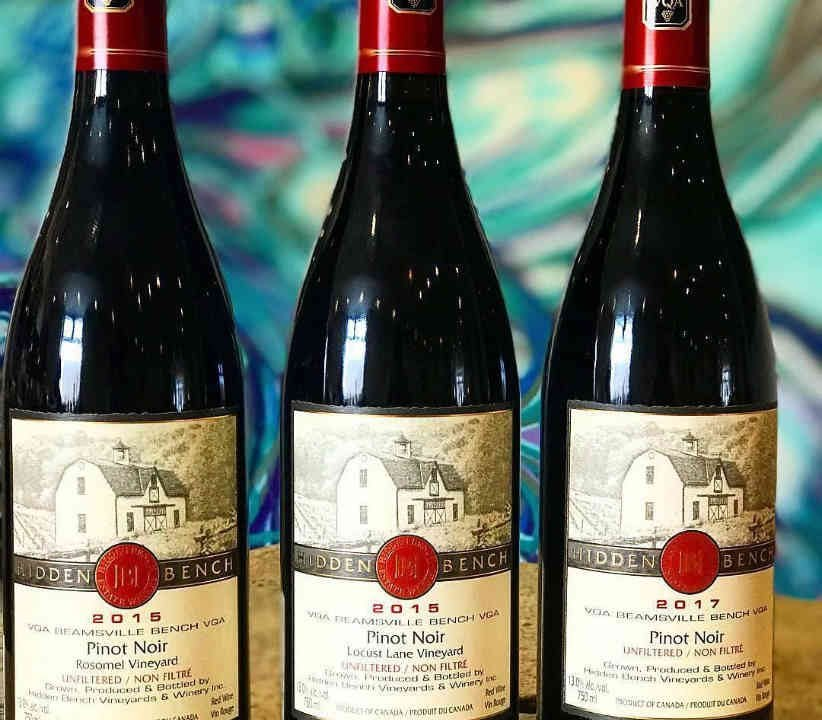 Vignoble bouteilles de vin Hidden Bench Estate Winery Lincoln Ulocal produit local achat local