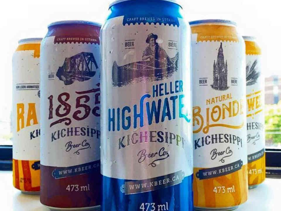 Microbrasserie canettes bière Kichesippi Beer Ottawa Ulocal produit local achat local