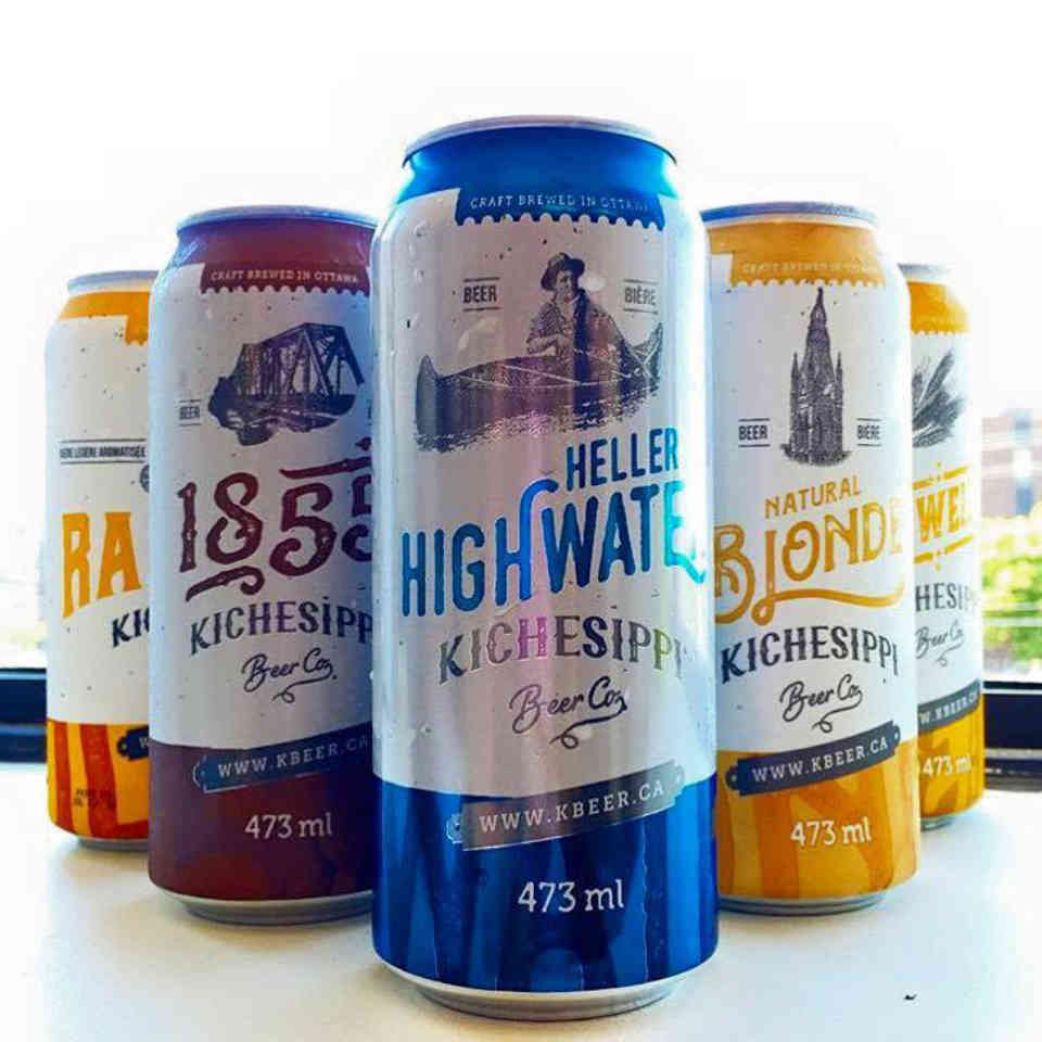 Microbrewery beer cans Kichesippi Beer Ottawa Ulocal local product local purchase