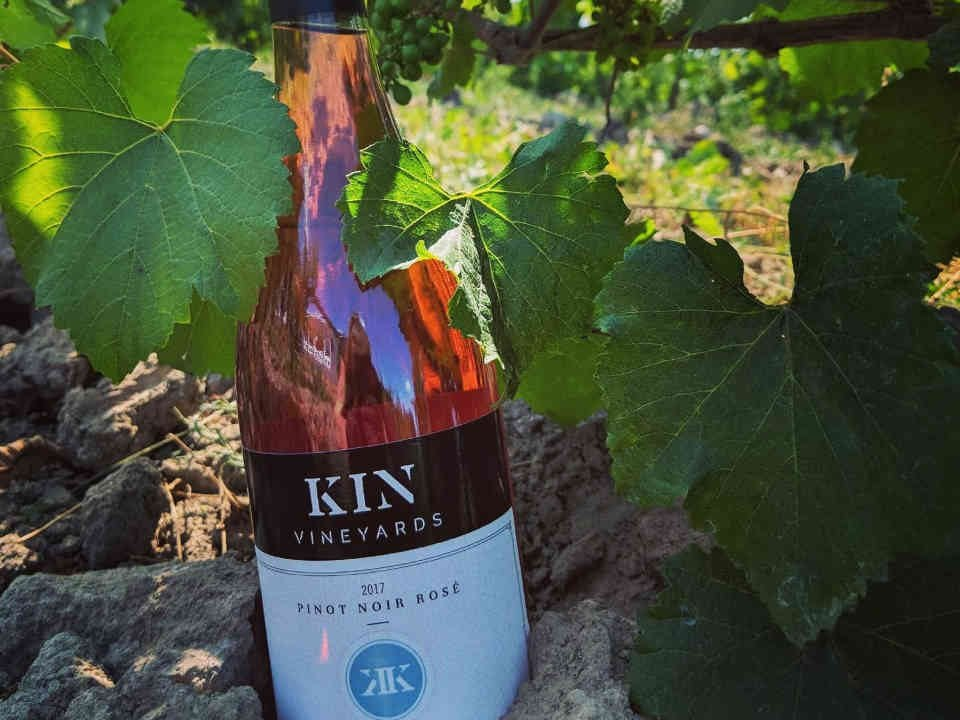 Vineyard wine bottle Kin Vineyards Carp Ulocal local product local purchase