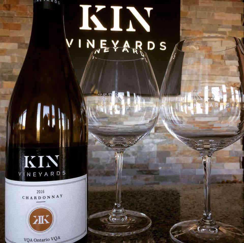 Vineyard wine bottle wine glasses Kin Vineyards Carp Ulocal local product local purchase