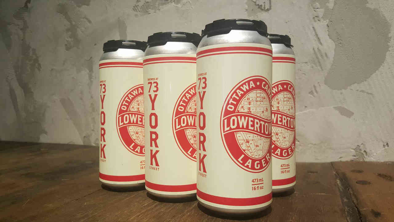 Microbrewery beer cans Lowertown Brewery Ottawa Ulocal local product local purchase