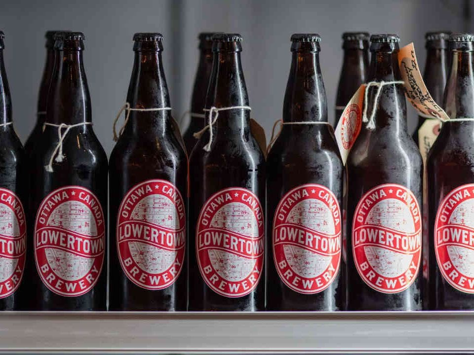 Microbrewery beer bottles Lowertown Brewery Ottawa Ulocal local product local purchase