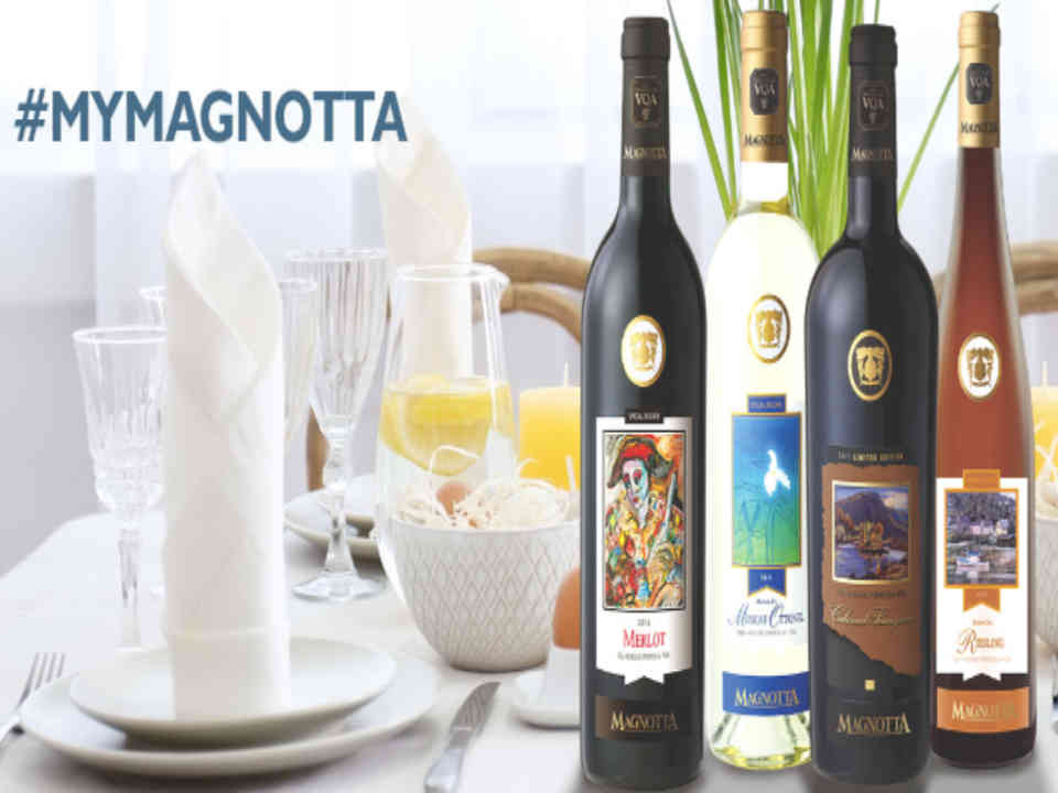 Vineyard wine bottles Magnotta Winery Woodbridge Ulocal local product local purchase