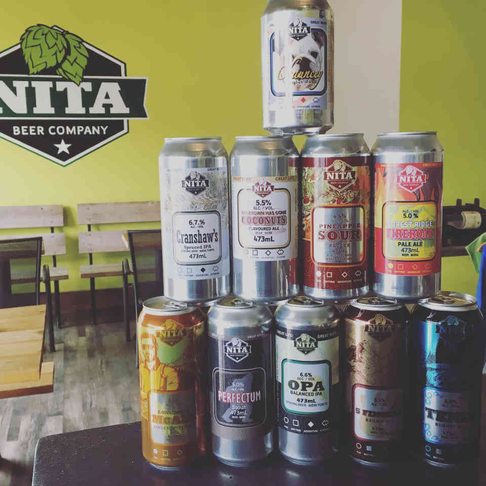 Microbrewery beer cans Nita Beer Company Ottawa Ulocal local product local purchase