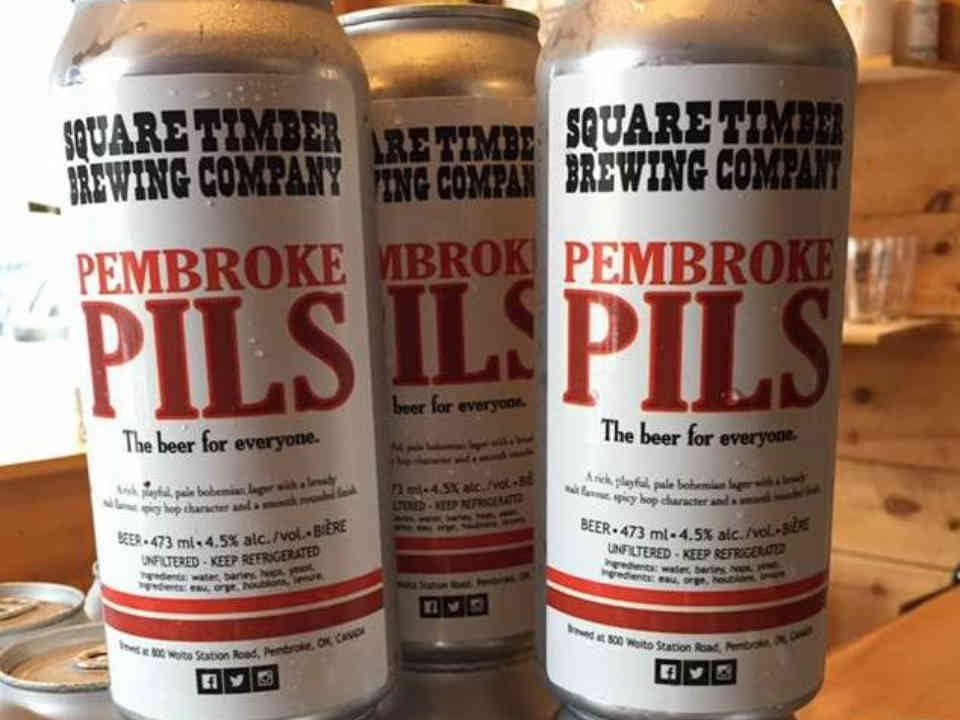 Microbrewery beer cans Square Timber Brewing Company Pembroke Ulocal local product local purchase