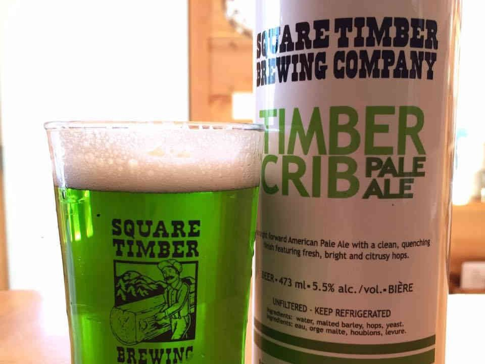 Microbrewery beer can and glass Square Timber Brewing Company Pembroke Ulocal local product local purchase