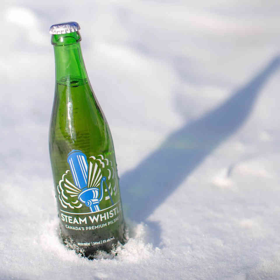 Microbrewery beer bottle Steam Whistle Brewing Toronto Ulocal Local Product Local Purchase