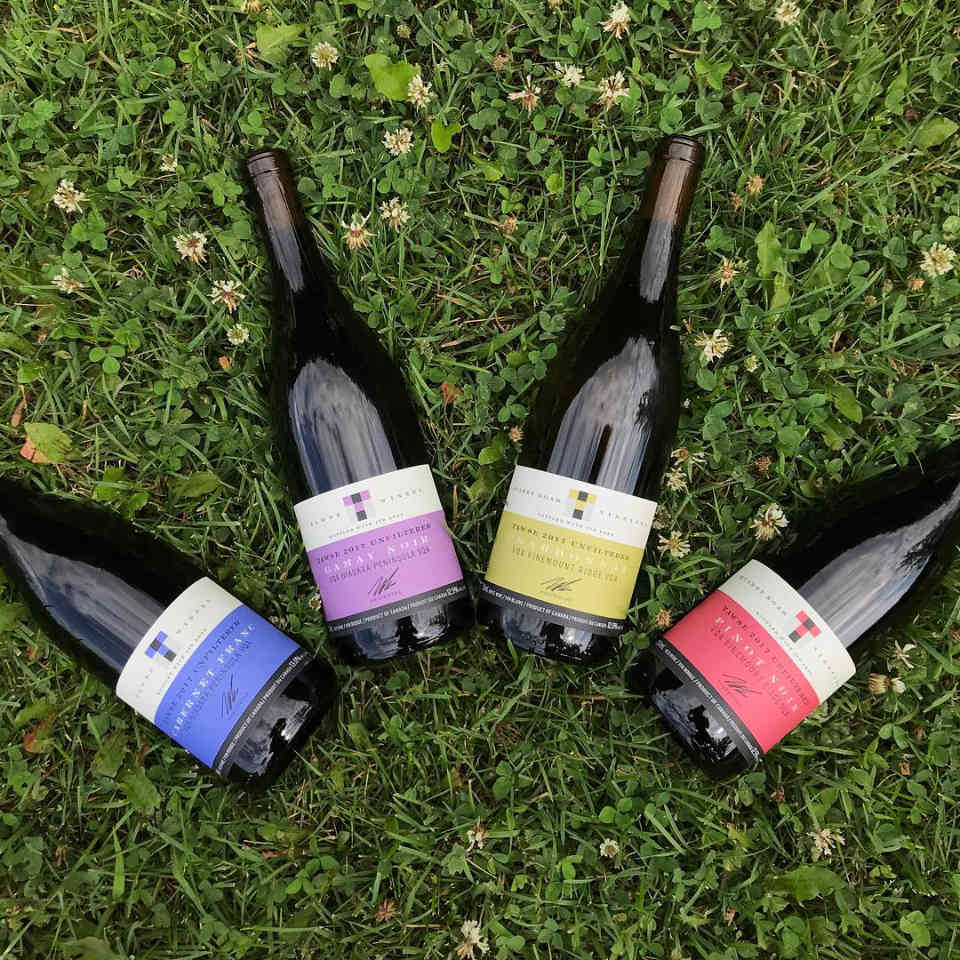 Vineyard bottles of wine Tawse Winery Lincoln Ulocal local product local purchase