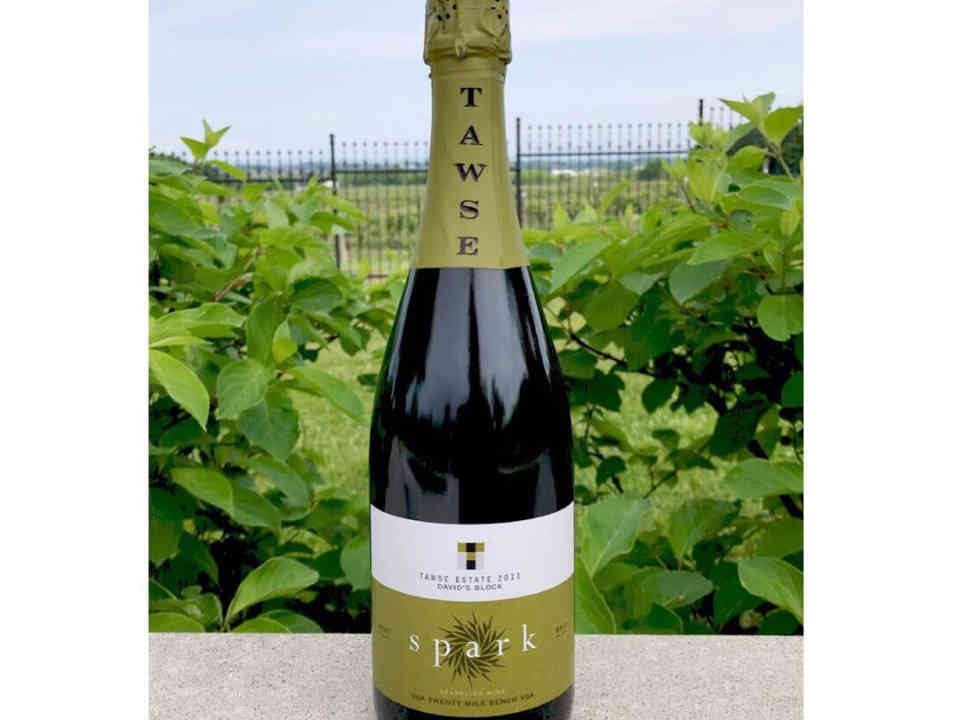 Vineyard bottle sparkling wine Tawse Winery Lincoln Ulocal local product local purchase