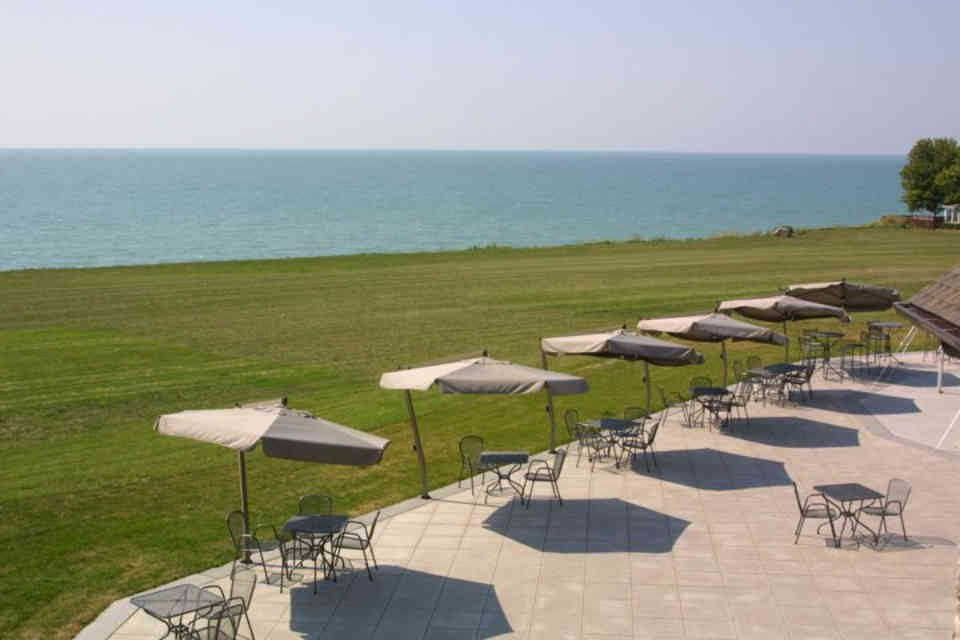 Vineyard patio waterside Viewpointe Estate Winery Essex Ulocal Local Product Local Purchase